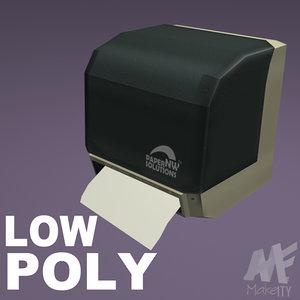 3d bathroom automatic towel dispenser