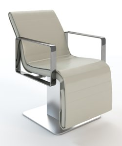 3d salon air chair model