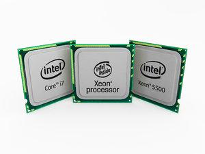 3d model of intel processors