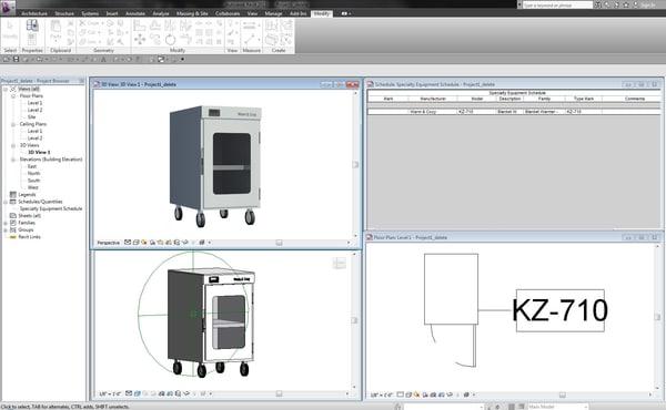 free revit kz-710 blanket warmer 3d model