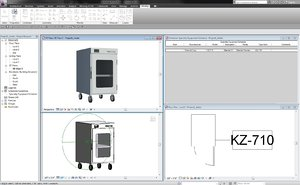 free revit kz-710 blanket warmer 3d model