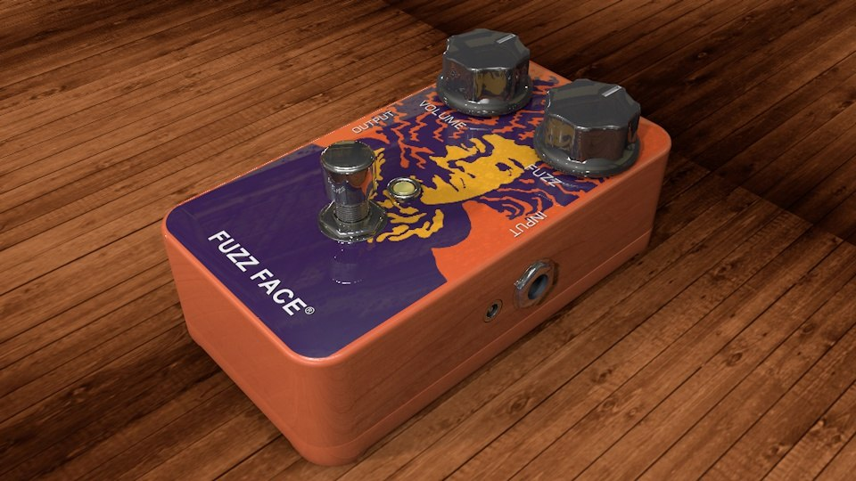 3d model dunlop mxr guitar hendriks