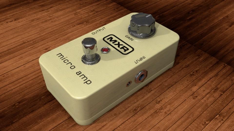 dunlop mxr micro amp 3d model