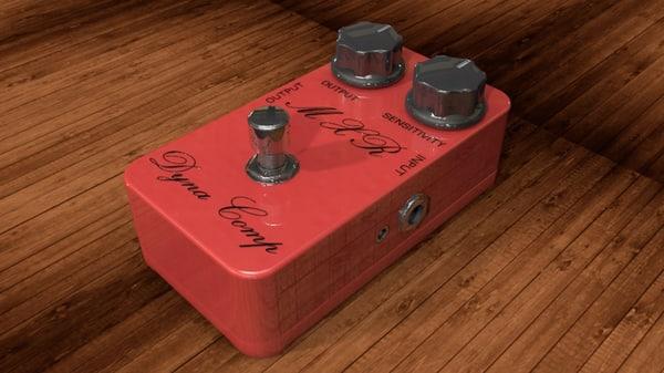 3d model dunlop mxr vintage dyna