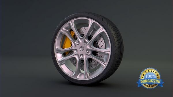 3d model car brake