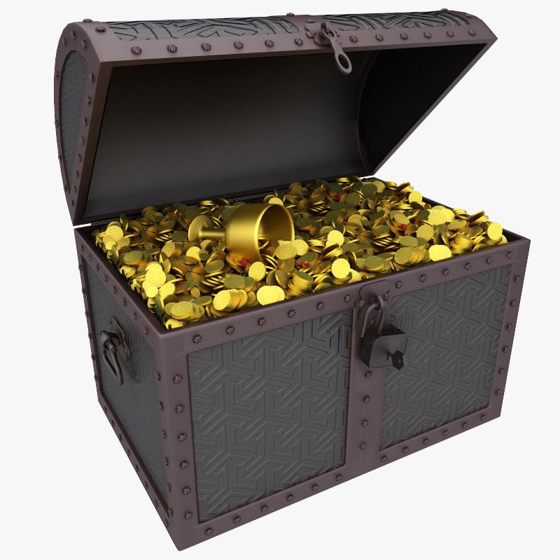 3d treasure chest