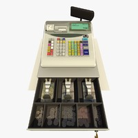 cash register 3d 3ds