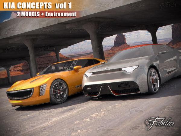 kia concepts vol 1 3d model