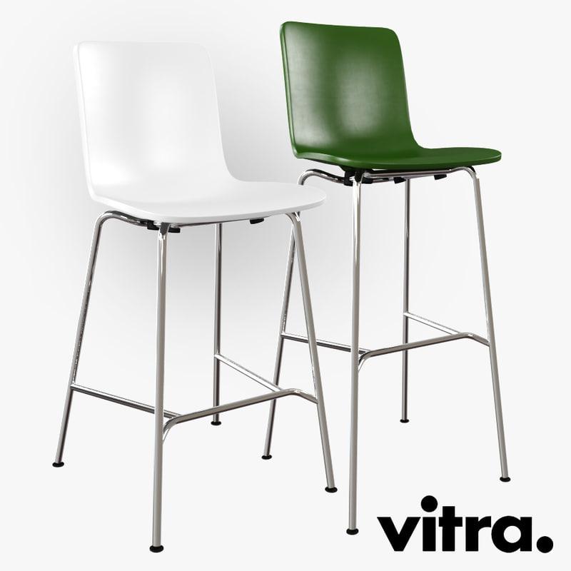 3d vitra hal stool chair