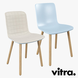 vitra hal wood chair obj