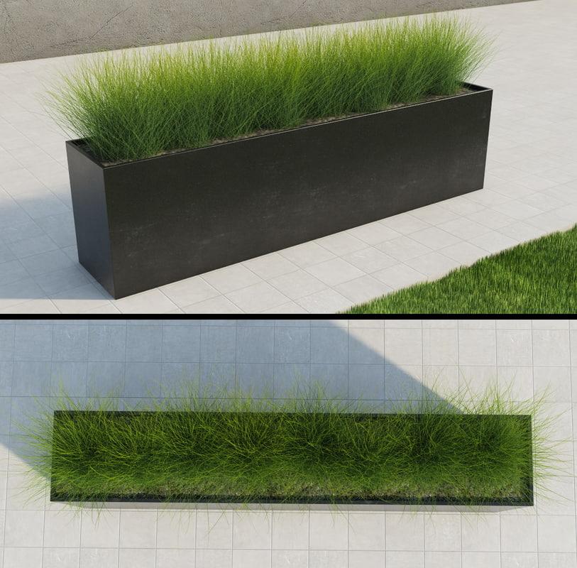 modern grass 3d max