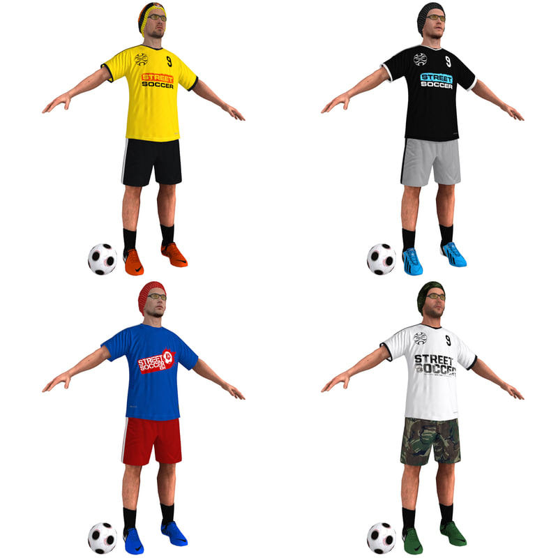 pack street soccer players max