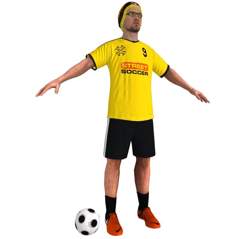max street soccer player