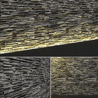 3d model seamless stone wall tileable