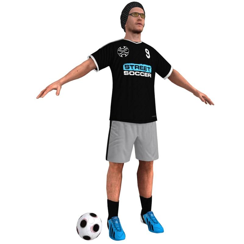 street soccer player 2 3d max