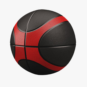 basketball red black 3d max