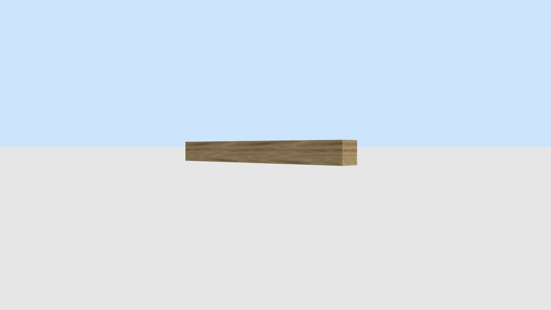 3d woodbeam 10x10x100 model