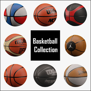 ball basketball basket 3d model