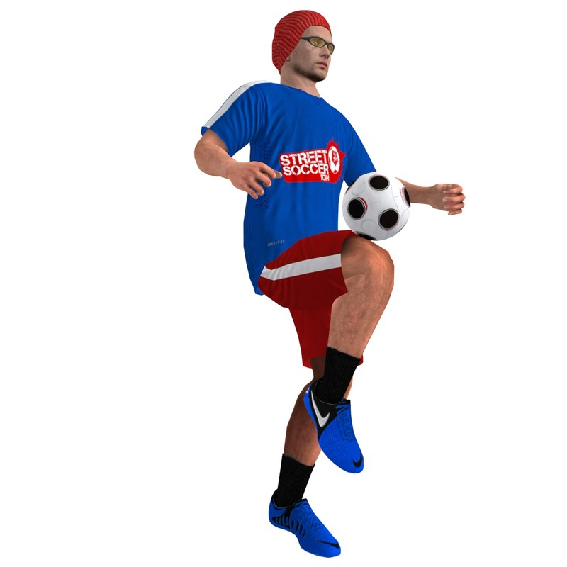 rigged street soccer player max