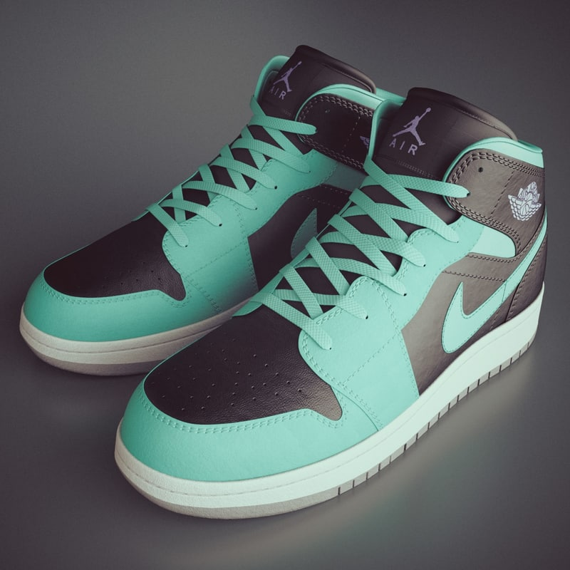 3d model of photoreal shoes nike air