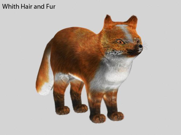 3d model plush fox