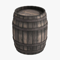 medieval wooden barrel 3d max