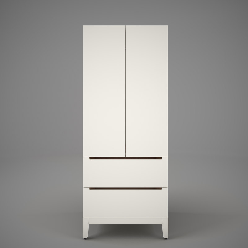 ikea nordli wardrobe 3d model. Black Bedroom Furniture Sets. Home Design Ideas