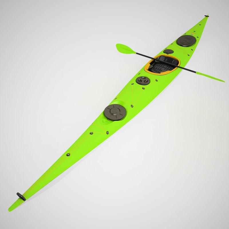 3d kayak s model