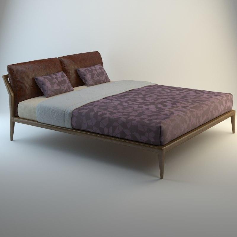 3d model selva bed indigo