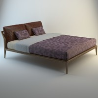 3d model selva bed indigo