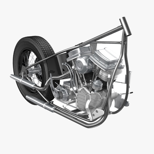 3ds max motorcycle powertrain
