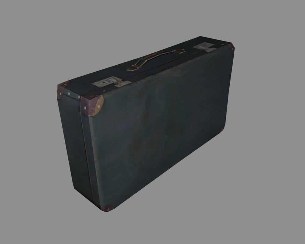 Suitcase 3d model free Download