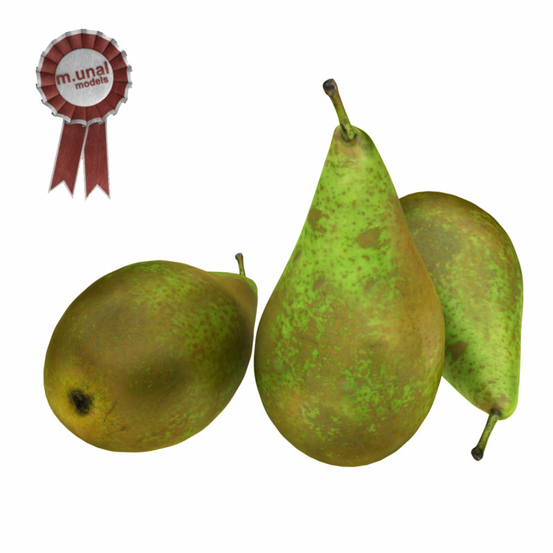 3d realistic pear
