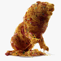 lion spaghetti 3d model
