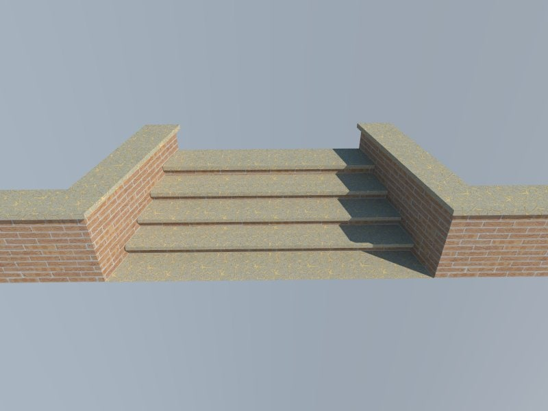 3d model brick step
