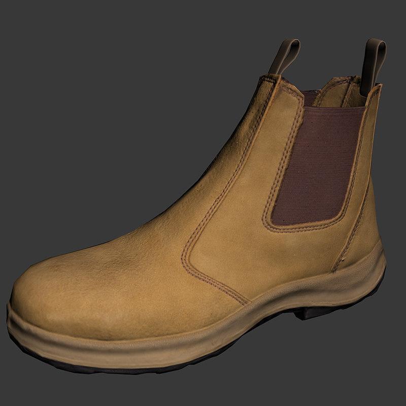 boot steel cap obj