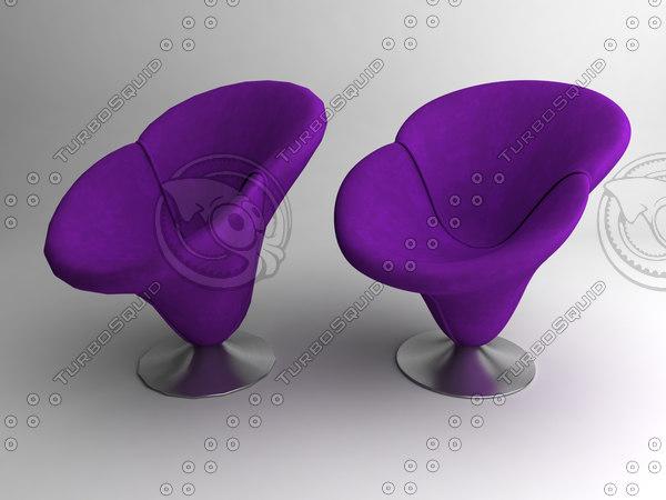 3d model leisure flower chair