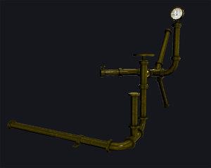blender set brass pipes