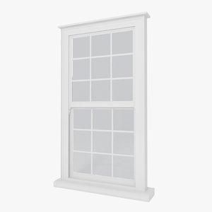 victorian sash window wooden houses obj
