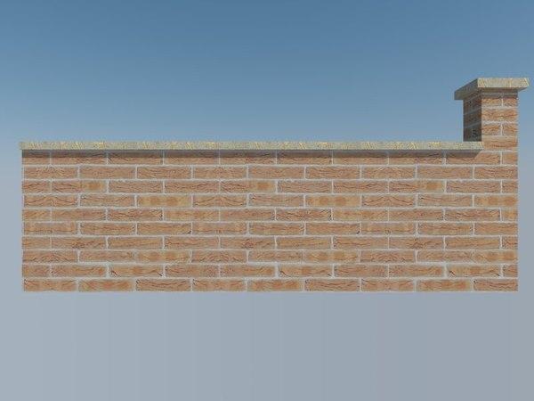 brick wall 3ds