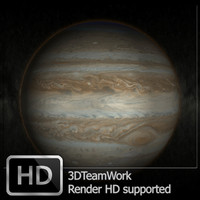 jupiter hd render 3d 3ds
