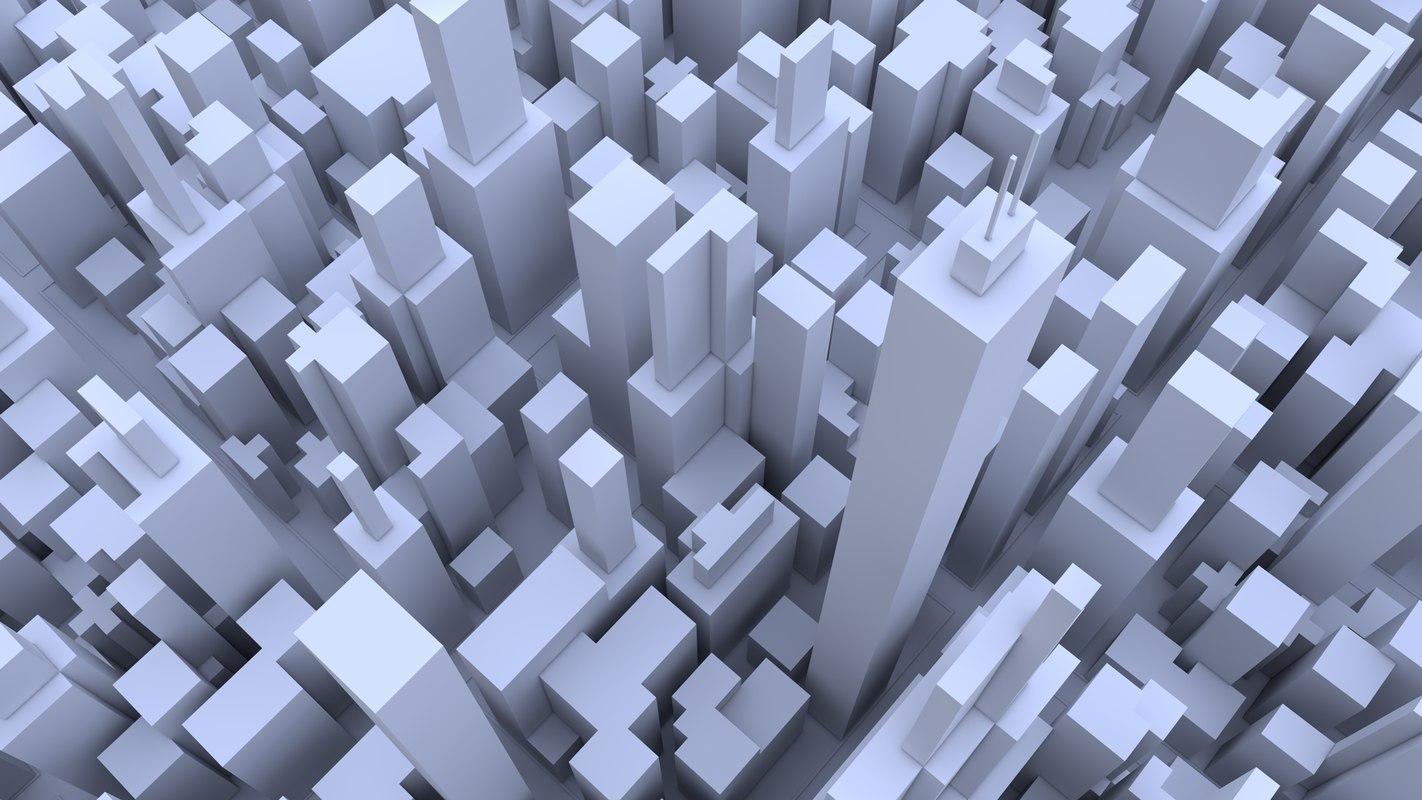 3d cityscape buildings model