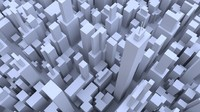 3d cityscape buildings model