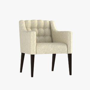 chair hampton dining 3d model