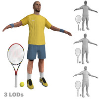 tennis player 2 3d max