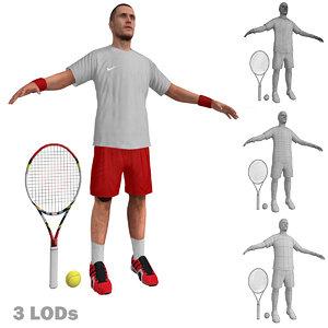 3d tennis player 3 model