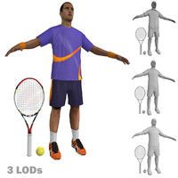 3d model of tennis player