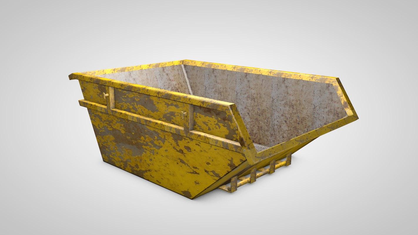 skip dumpster 3d obj