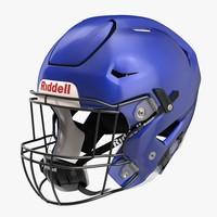 3d riddel speedflex helmet blue