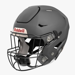 riddel speedflex helmet gray 3ds